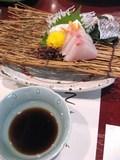 夕食(鯛・寒八の盛り合わせ)