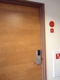 客室のドア(廊下側)