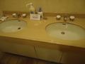 1階トイレの洗面台の様子