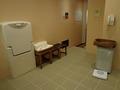 御所坊の半露天・半混浴式大浴場「金郷泉」脱衣所