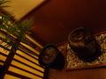 御所坊の半露天・半混浴式大浴場「金郷泉」入り口付近の様子