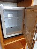 客室の冷蔵庫の中