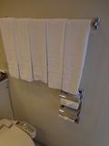 浴室内のタオルかけ