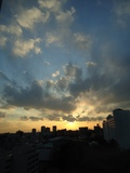 夕方の眺望
