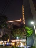 ホテルの夜の外観