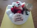 生クリームのお祝いケーキ!