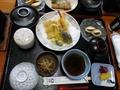 釜飯定食(天ぷらコース)です