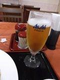 グラスビールはうれし♪