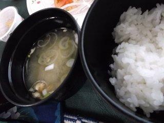 ご飯は、地元のお米でした。
