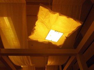 天井の照明がなんとも素敵!