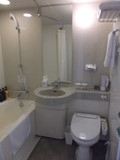 洗面所とトイレ、バスルームの全体写真です