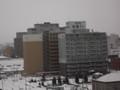 部屋からビル街も見えます