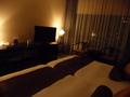 お部屋、ベッドから