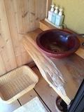 客室露天風呂の備品