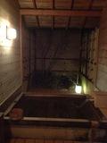 夜のヒノキ風呂