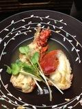 夕食の海老料理