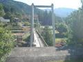 揺れる吊橋