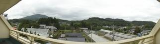 広いベランダからの眺望