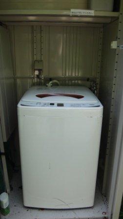 こんなところに洗濯機が!