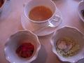 ランチバイキングのスープと小鉢