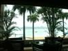 喜瀬ビーチパレス 1Fラウンジよりビーチを眺めて・・・