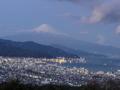 たそがれの富士山