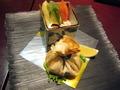 夕食「冷製サラダと霧島高原鶏の包み焼き」