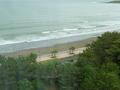 部屋から見た海岸