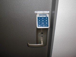 暗証番号式のドアロックです