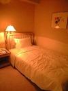 十分な大きさのシングルベッドでした。