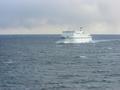 洋上で、太平洋フェリーとのすれ違い