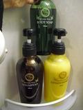 シャワー室のアメニティ