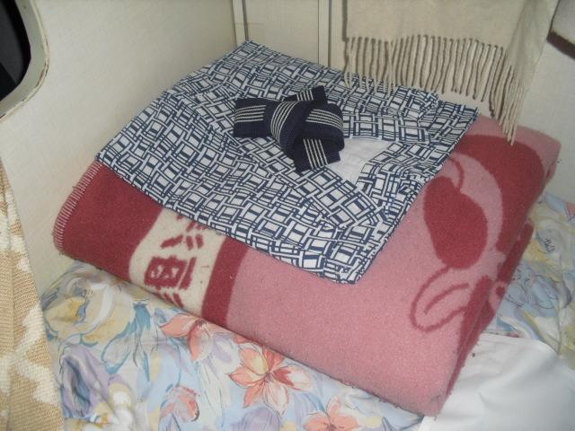 毛布と浴衣