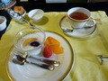 朝食フルーツ・紅茶