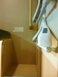 階段とハンガー