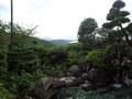 露天風呂から望むことが出来る山の風景