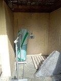 露天風呂のシャワー