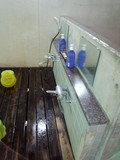 洗い場の脱衣所側