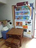 休憩所の自動販売機