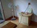 休憩所の扇風機