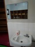 内風呂の洗面台アップ