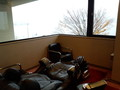 マッサージ室から山中湖