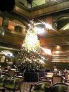 クリスマスシーズンのカフェの様子