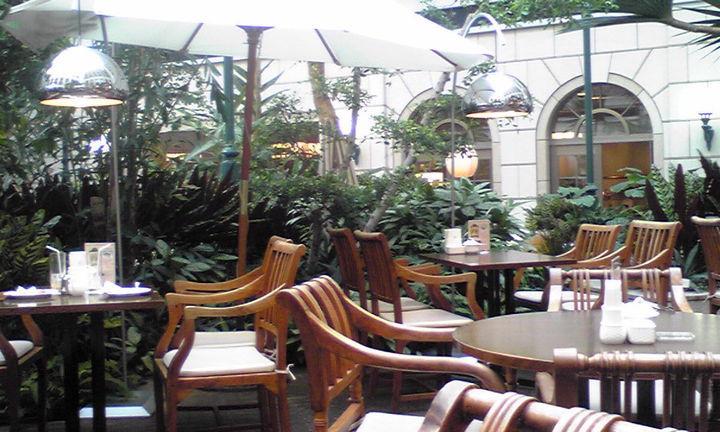 中庭のカフェ☆素敵過ぎる☆