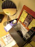 机の上のセット