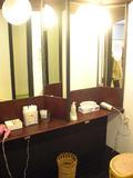 2台の化粧台が温泉には設置されていました。