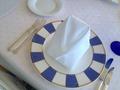 朝食の布ナプキンがおっしゃれ♪