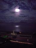 窓からの展望(夜の海)