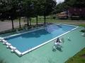 屋外プールです
