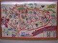 温泉街の地図